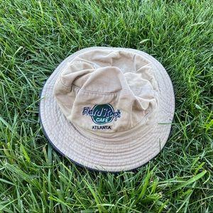 90s Y2K Hard Rock Cafe Atlanta tan bucket hat